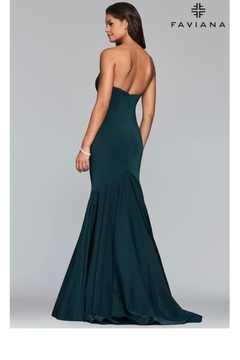 Faviana Strapless Evergreen Gown - Alternate List Image