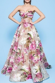 MNM Couture Strapless Floral Gown - Product Mini Image
