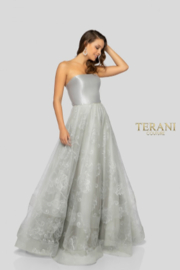Terani Couture Strapless Full Skirt Gown - Product Mini Image