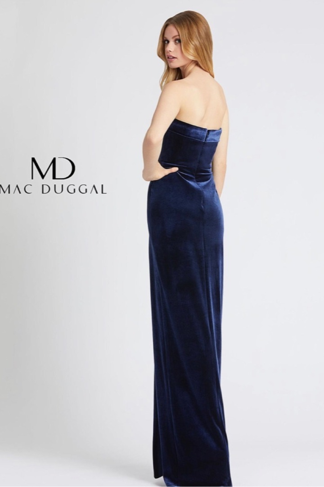 Mac Duggal STRAPLESS GOWN - Front Full Image