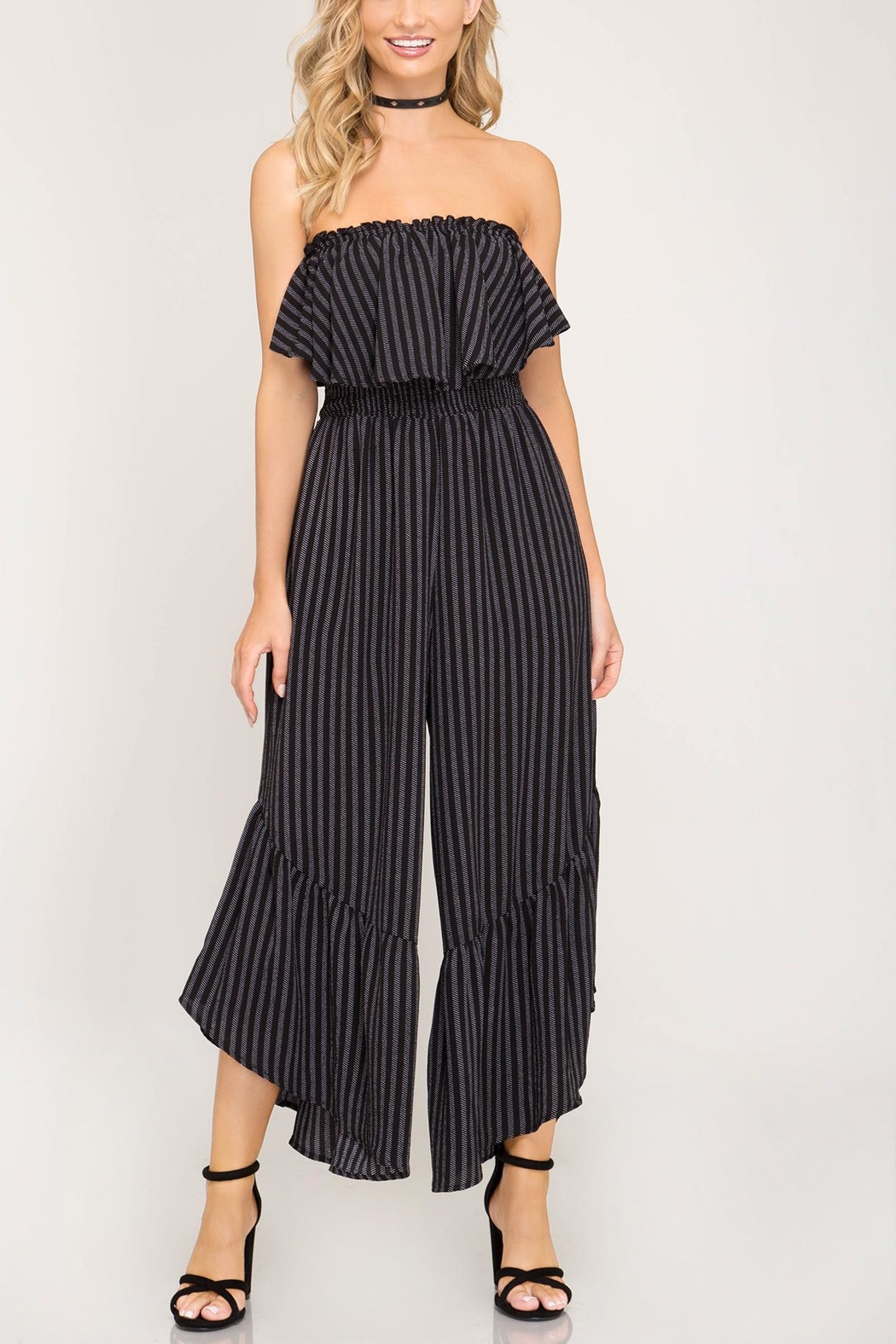 Unknown Factory Strapless Jumpsuit - Front Cropped Image