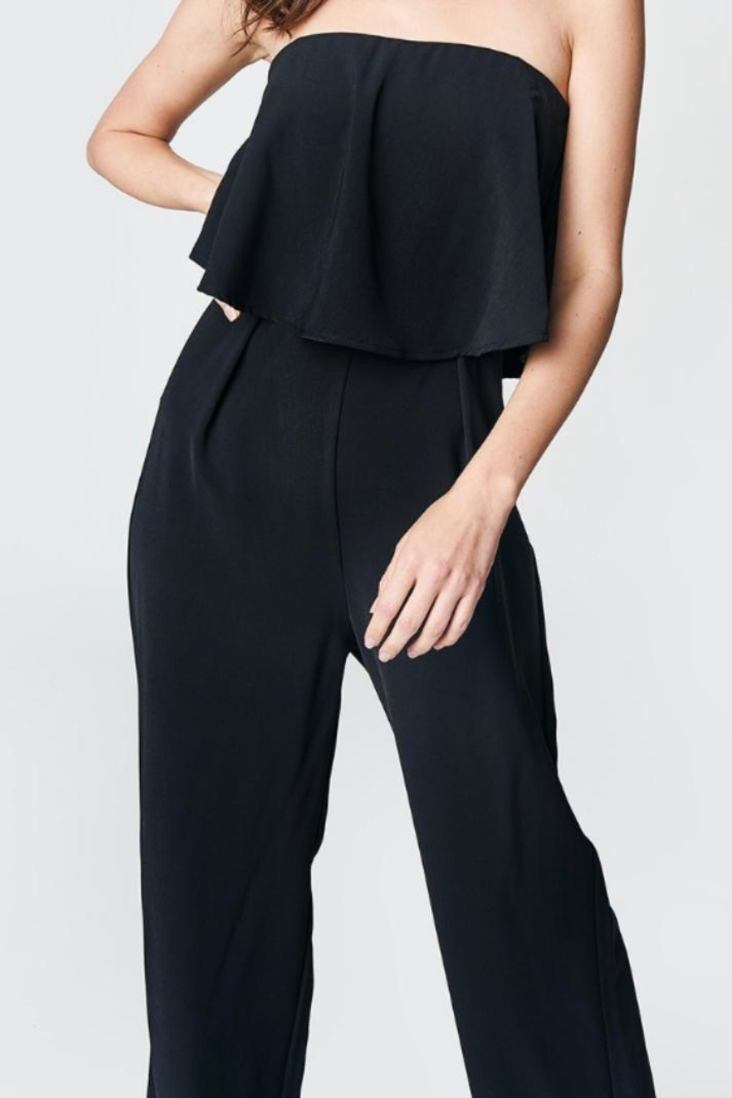 Sugar Lips Strapless Jumpsuit - Front Cropped Image