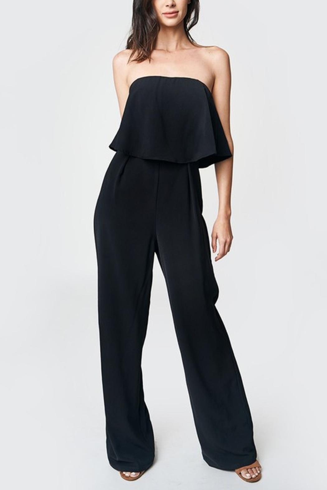 Beauty by BNB Strapless Jumpsuit - Front Cropped Image