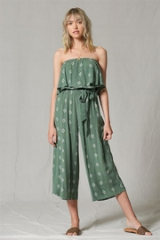 By Together Strapless Jumpsuit, Green - Product Mini Image