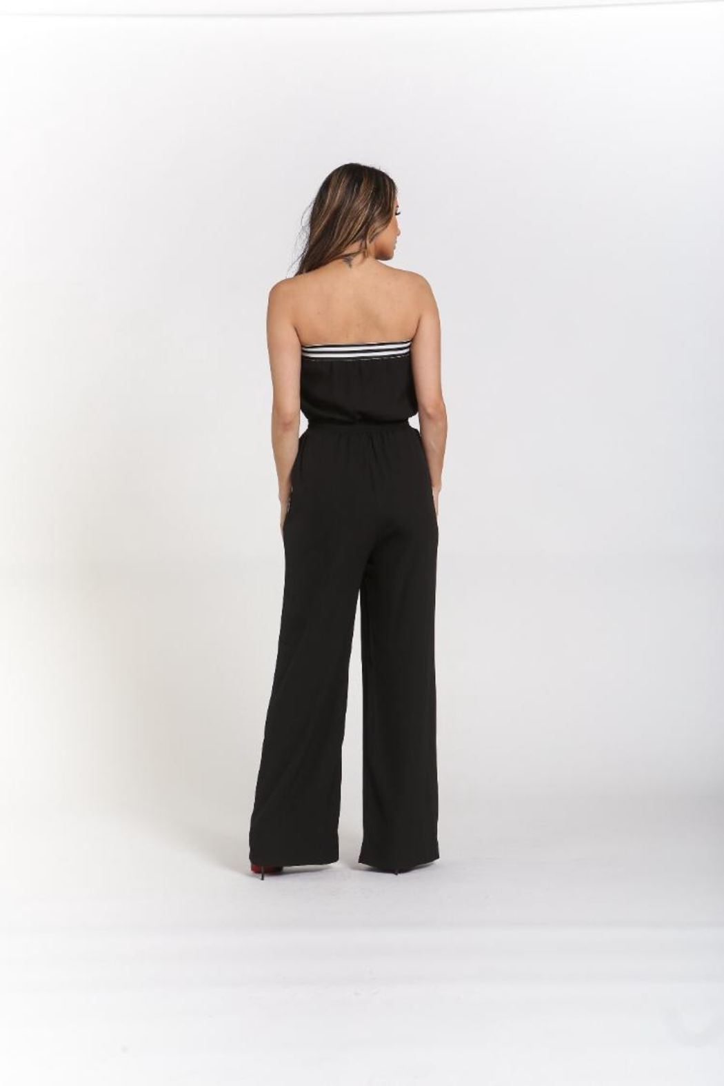 Rehab Strapless Jumpsuit W/pockets - Side Cropped Image