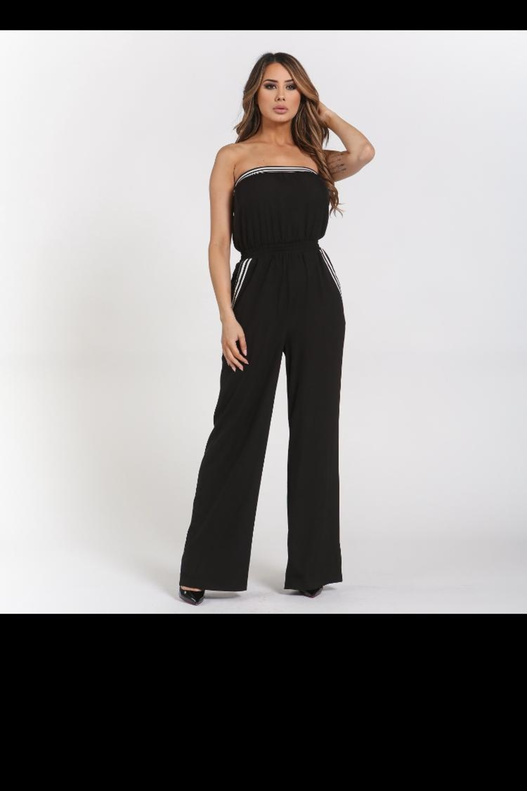 Rehab Strapless Jumpsuit W/pockets - Main Image