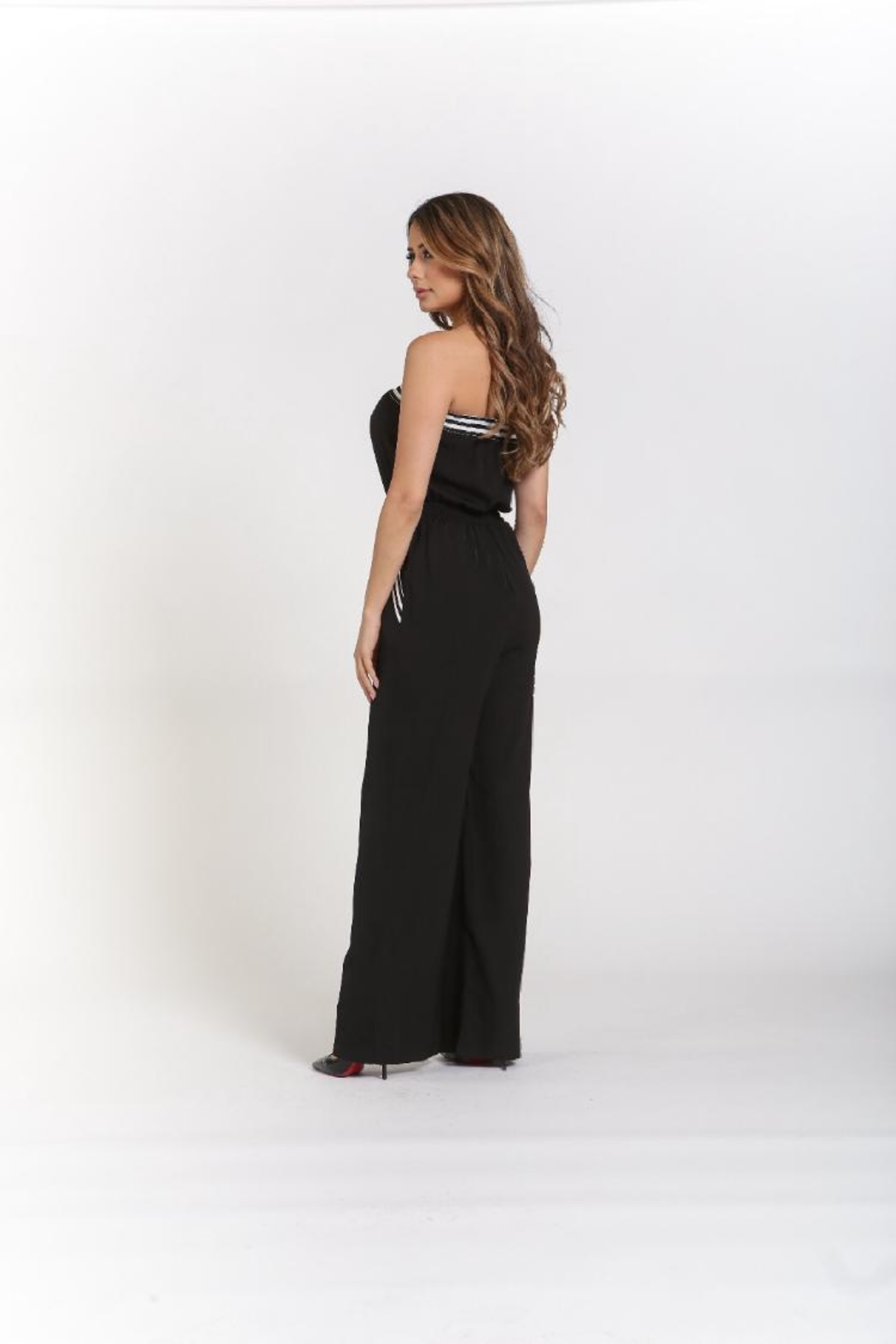 Rehab Strapless Jumpsuit W/pockets - Front Full Image