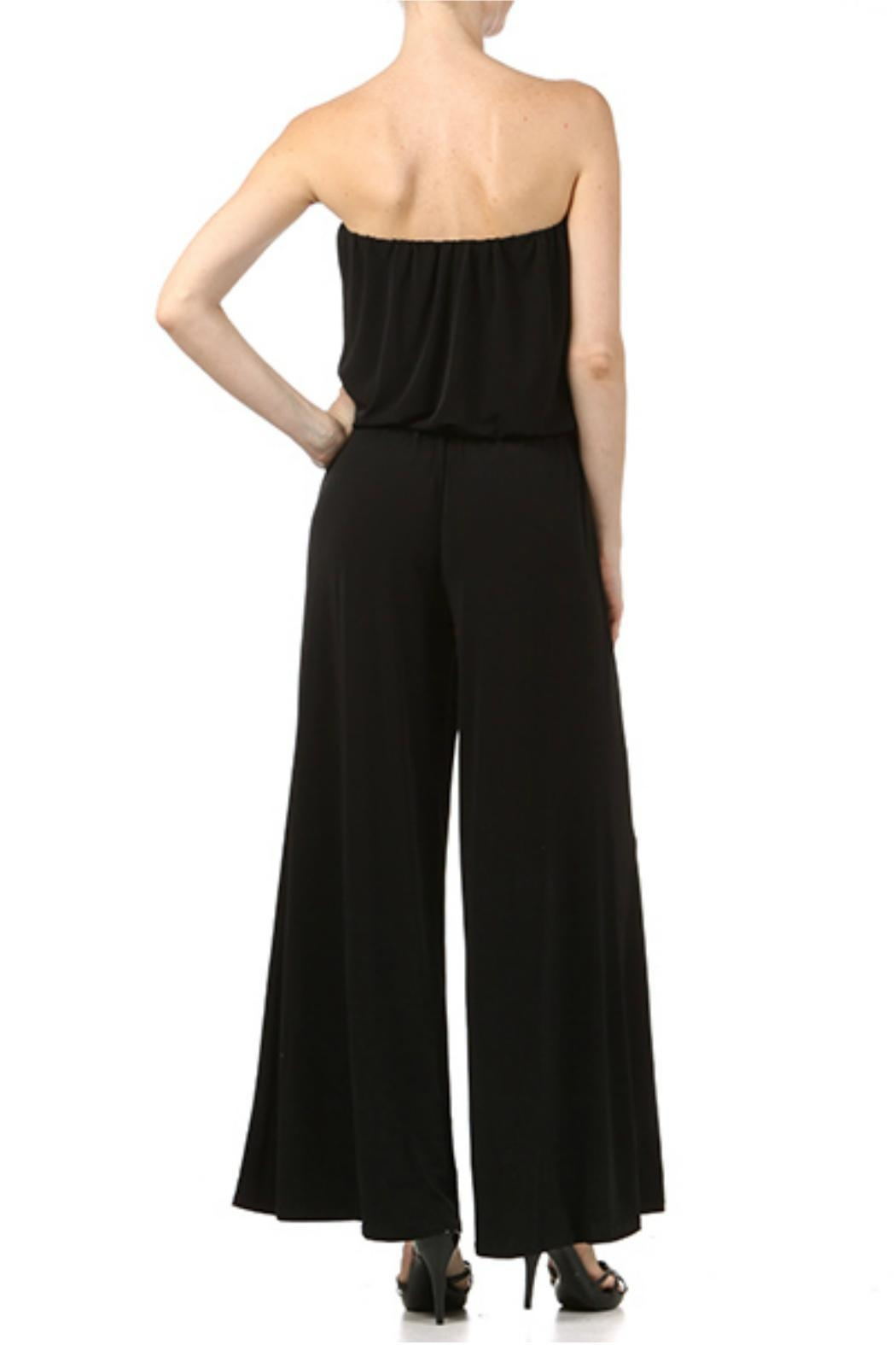 Ariella USA Strapless Jumpsuit w Rope Belt - Front Full Image