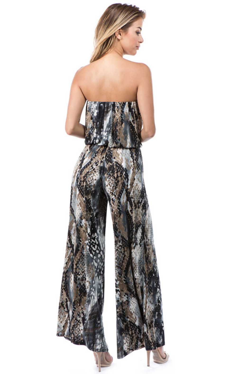 Ariella USA Strapless Jumpsuit w Rope Belt - Side Cropped Image