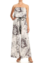 Ariella USA Strapless Jumpsuit w Rope Belt - Front cropped