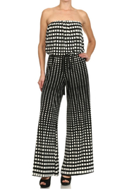 Ariella USA Strapless Jumpsuit w Rope Belt - Front full body