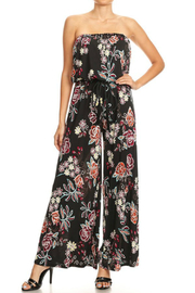 Ariella Strapless Jumpsuit w Rope Belt - Product Mini Image