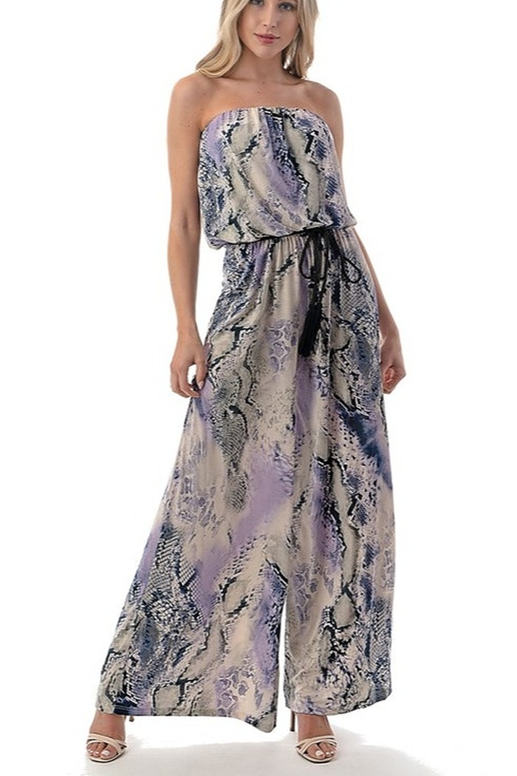 Ariella Strapless Jumpsuit with Cord - Main Image