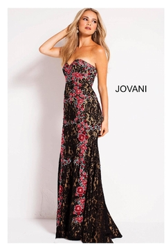 Jovani Strapless Lace Gown - Alternate List Image