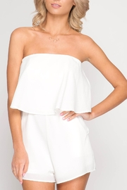 She + Sky Strapless Layered Romper - Product Mini Image