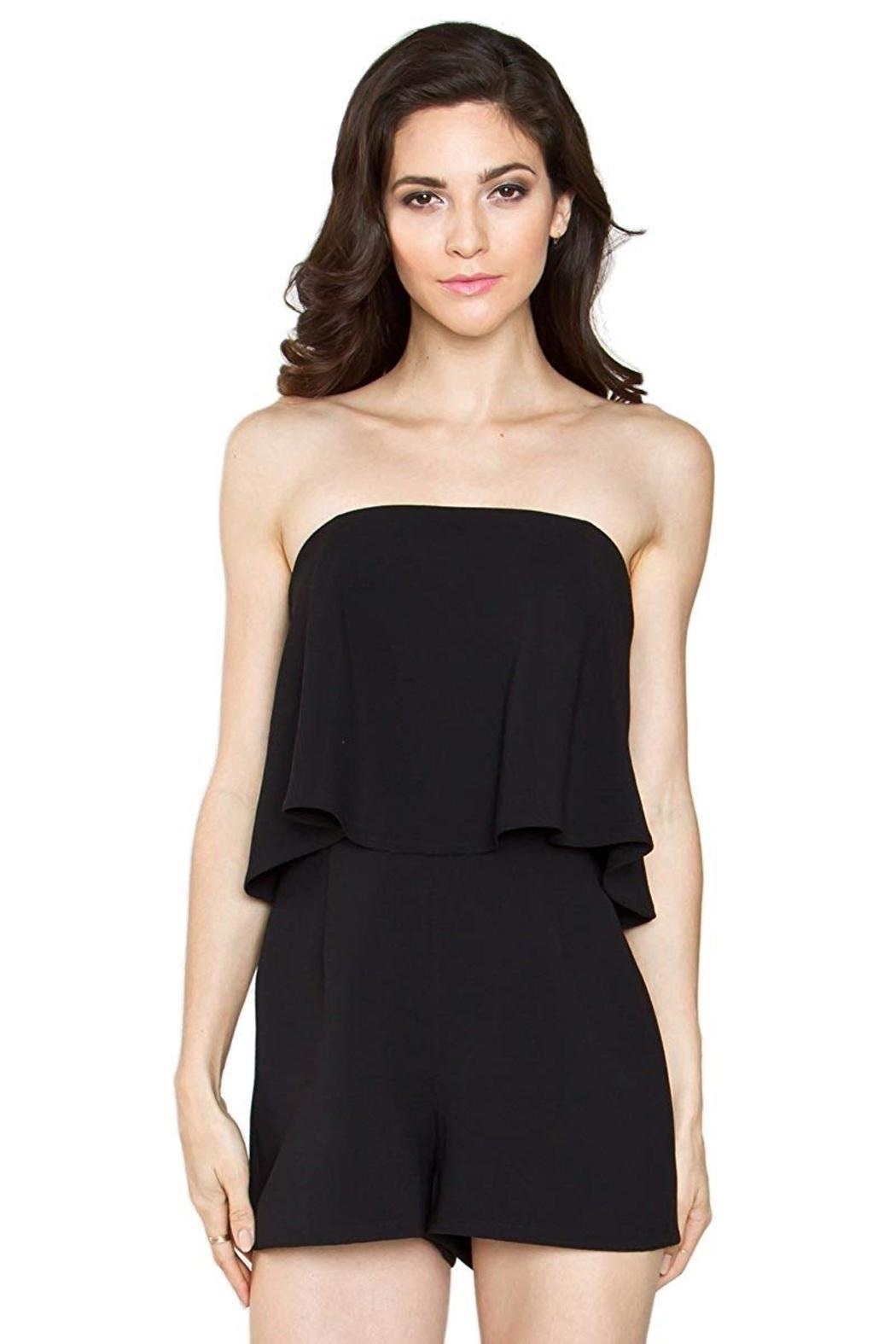 Sugarlips Tumi Strapless Romper - Front Cropped Image