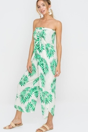 Lush Strapless Leaf Jumpsuit - Product Mini Image