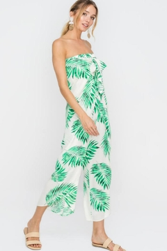 Lush Strapless Leaf Jumpsuit - Alternate List Image