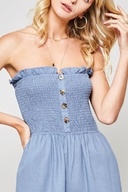 Promesa USA Strapless Linen Jumpsuit - Side cropped