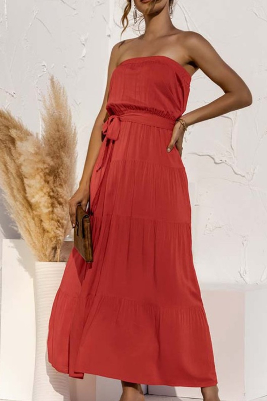 C+D+M Strapless Maxi Dress - Front Cropped Image