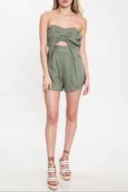 Latiste Strapless Olive Romper - Product Mini Image