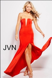 Jovani Strapless Red Gown - Product Mini Image