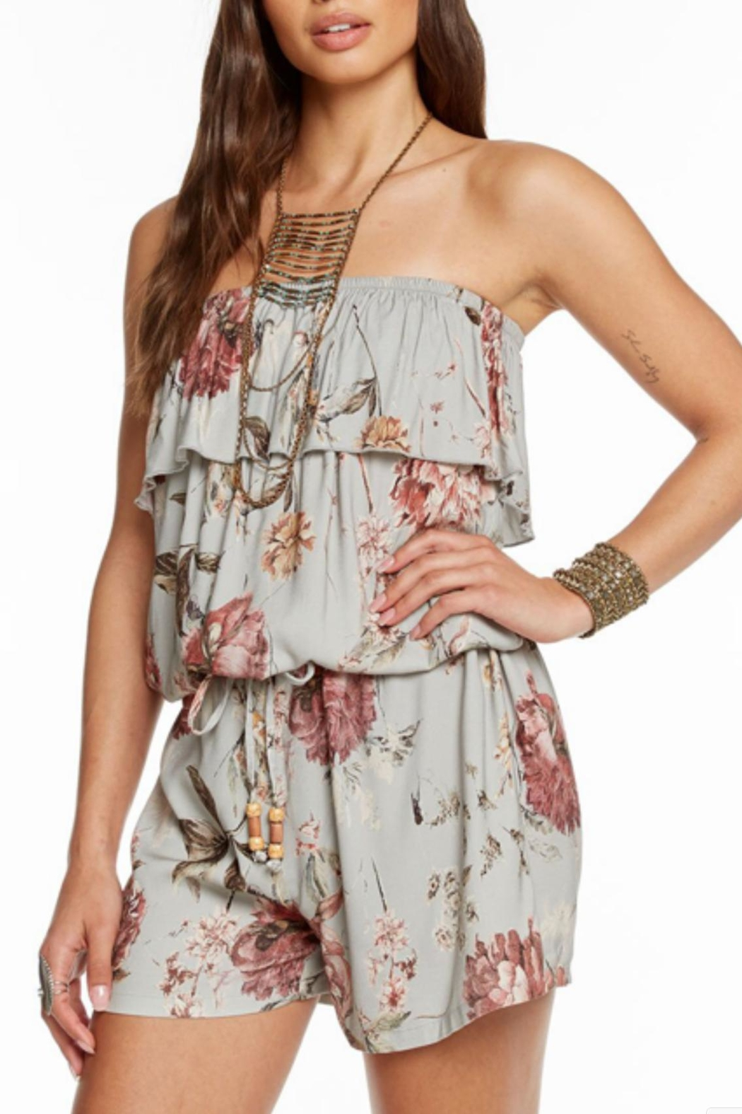 Chaser Strapless Romper - Front Cropped Image
