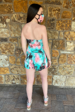 Ariella USA Strapless Romper with Mask - Alternate List Image