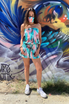 Shoptiques Product: Strapless Romper with Mask