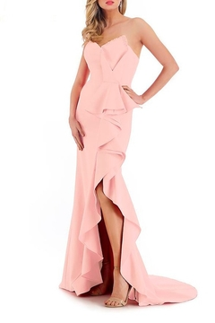 Morrell Maxie Strapless Ruffle Front Gown - Alternate List Image
