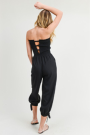 R+D Strapless Smocked Jumpsuit - Side cropped