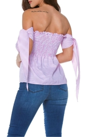 Carmen Strapless Smocked Top - Side cropped