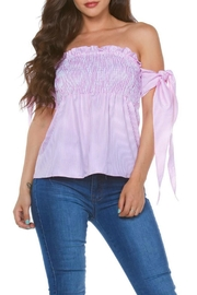Carmen Strapless Smocked Top - Front cropped