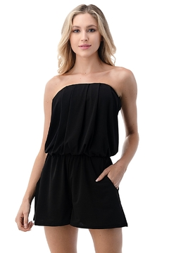 Ariella USA Strapless Solid Romper w Pockets - Product List Image