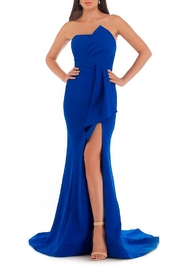 Morrell Maxie Strapless Stretch Crepe Gown - Product Mini Image