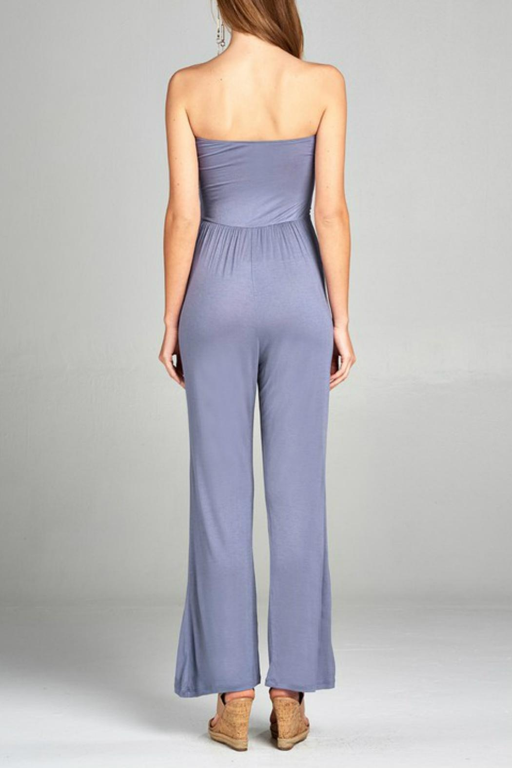 Minx Strapless Wideleg Jumpsuit - Front Full Image