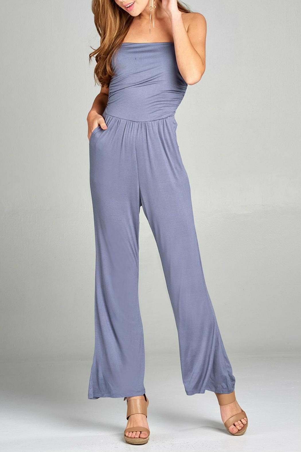 Minx Strapless Wideleg Jumpsuit - Front Cropped Image