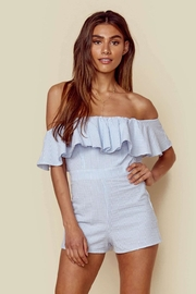 Blue Life Strappless Ruffle Romper - Front cropped