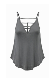 Bobi Los Angeles Strappy Back & Front V Tank - Product Mini Image