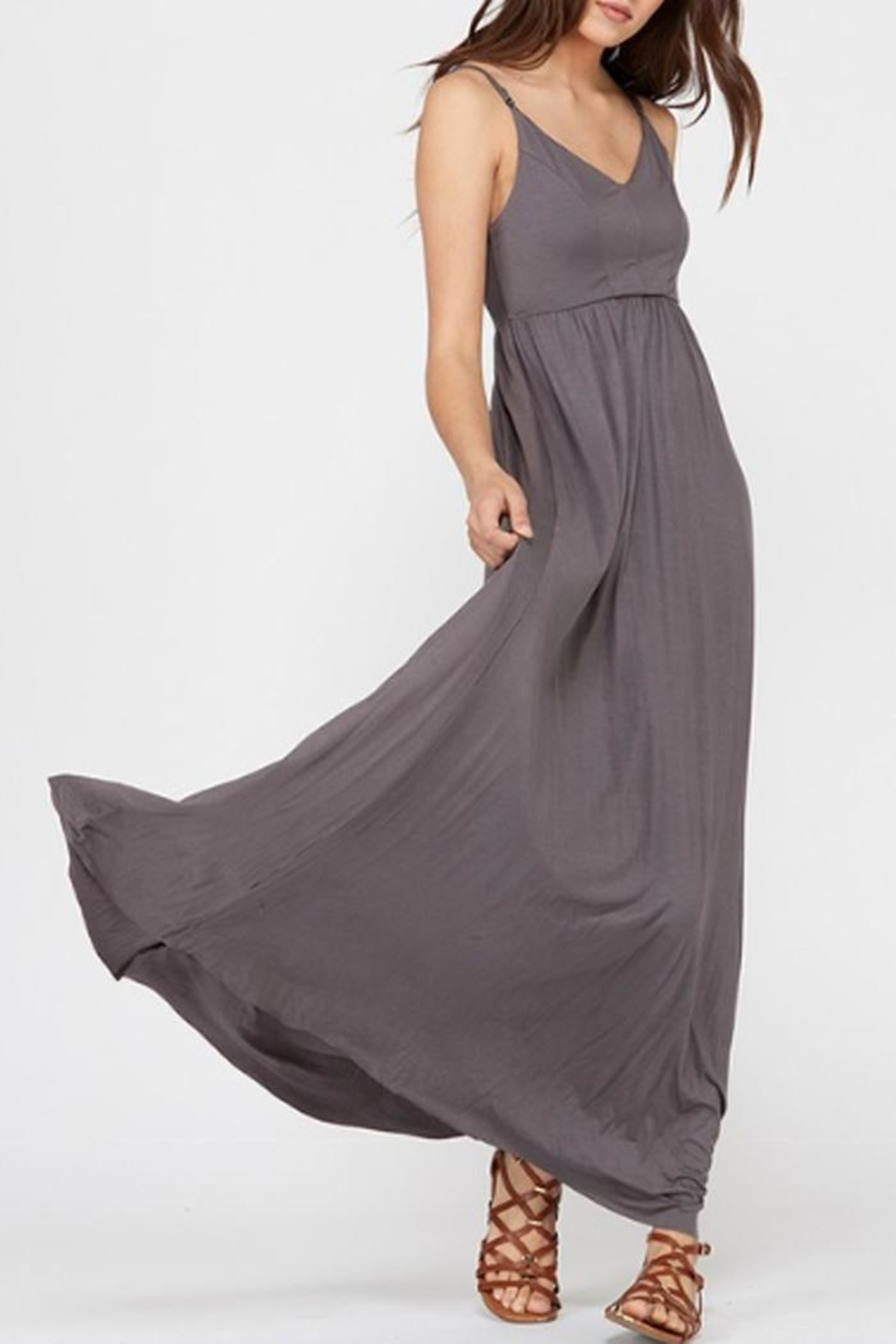 Wishlist Strappy Charcoal Maxi - Front Full Image