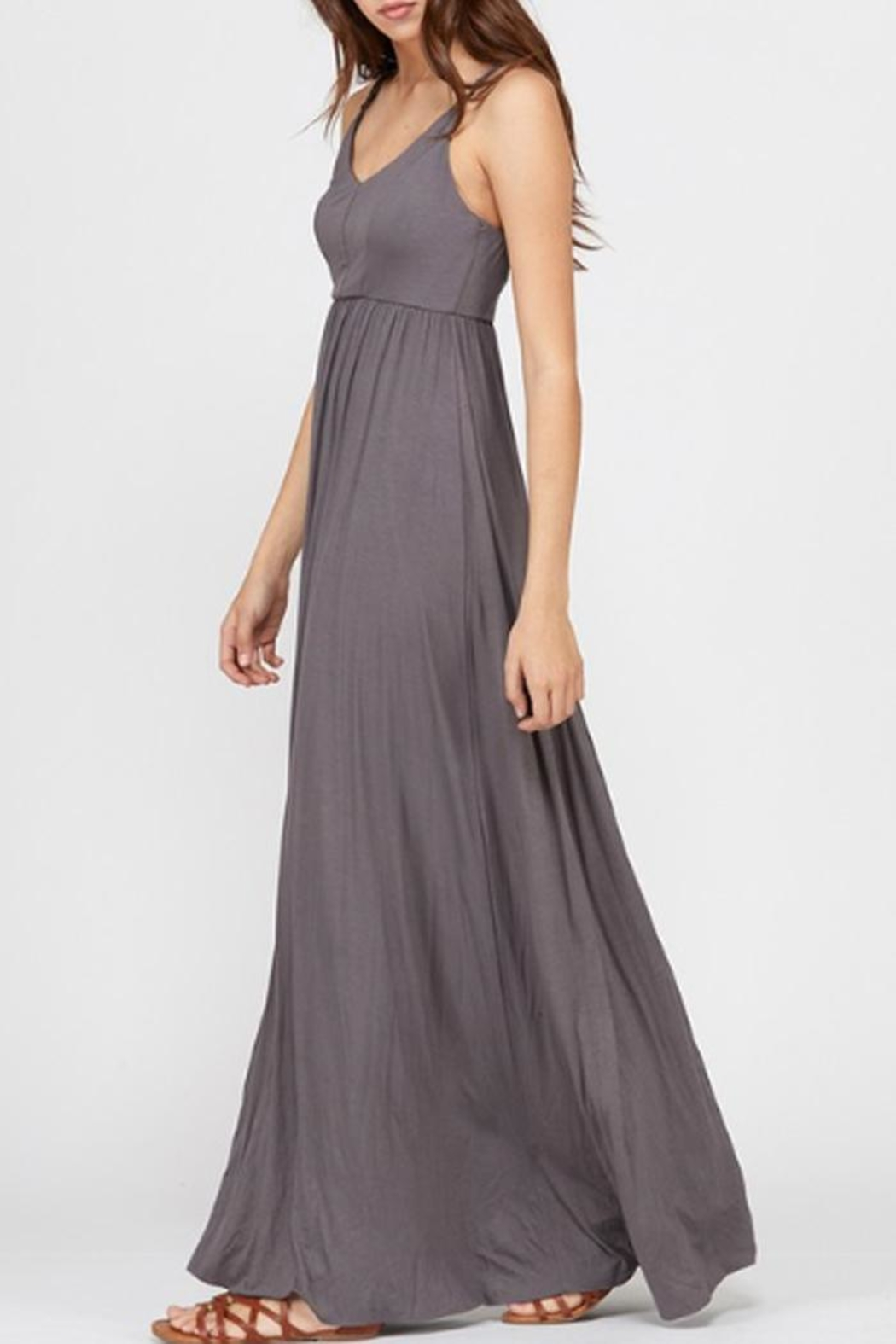 Wishlist Strappy Charcoal Maxi - Side Cropped Image