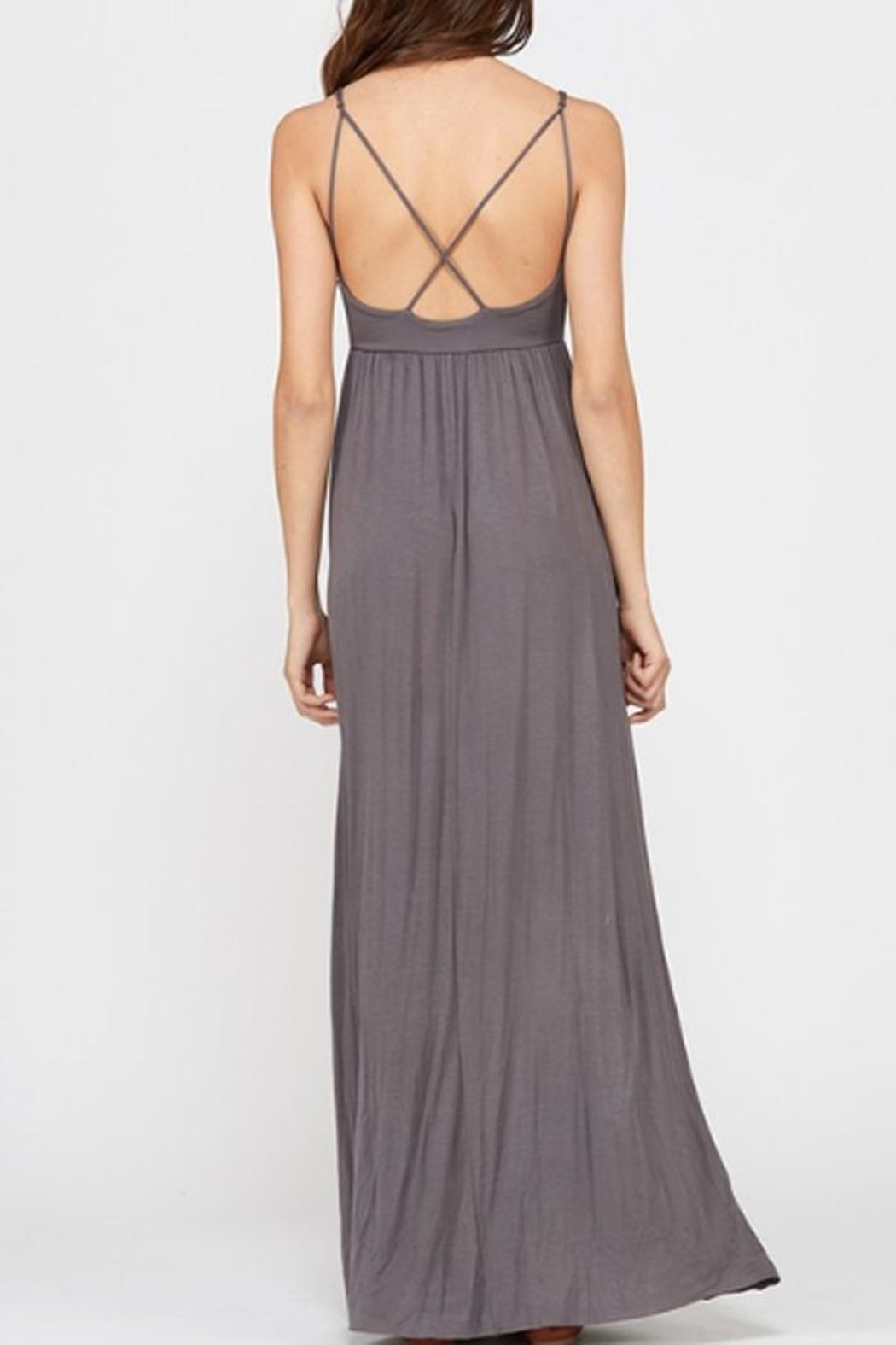 Wishlist Strappy Charcoal Maxi - Back Cropped Image