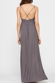 Wishlist Strappy Charcoal Maxi - Back cropped