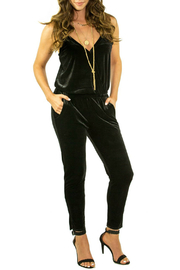 Veronica M Strappy Cinched Velvet Jumpsuit - Product Mini Image