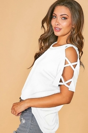 Fantastic Fawn Strappy Cutout Shoulder Top - Product Mini Image
