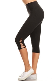 New Mix Strappy Detail Capri - Front cropped