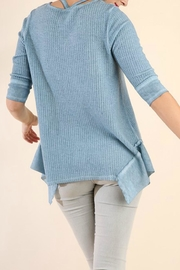 Umgee USA Strappy-Detail Waffle Tunic - Side cropped