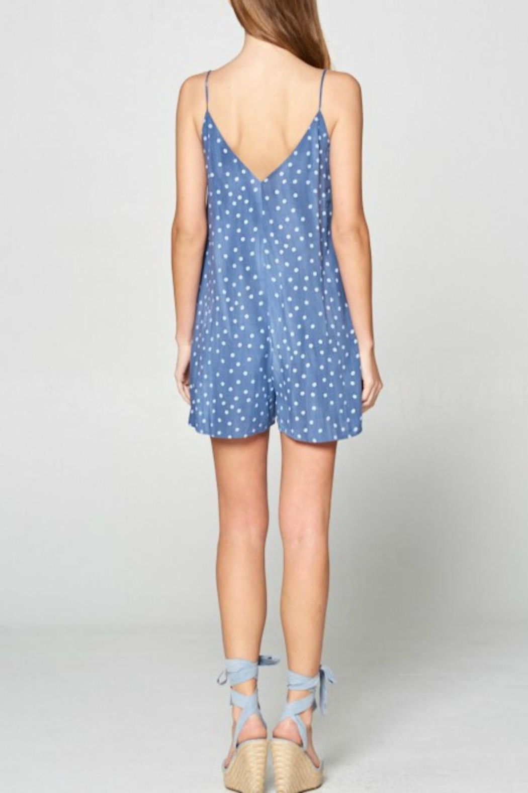 Style Rack Strappy Dot Romper - Side Cropped Image