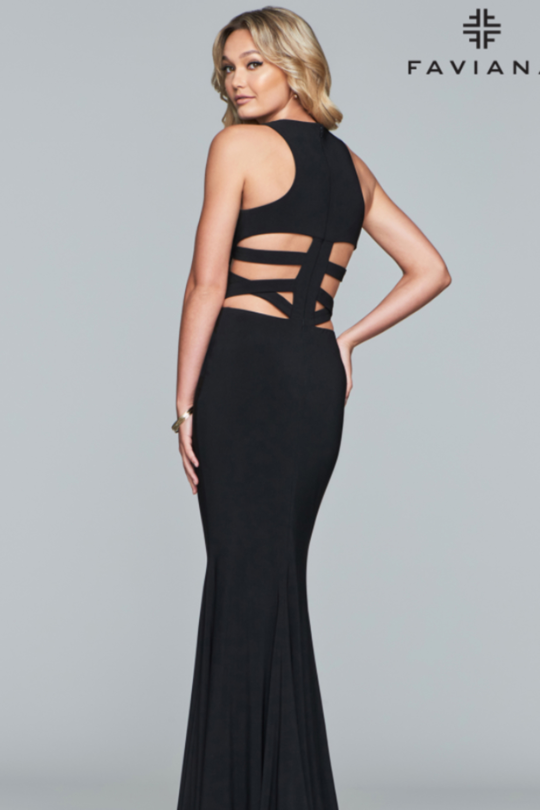 Faviana Strappy Evening Gown - Main Image