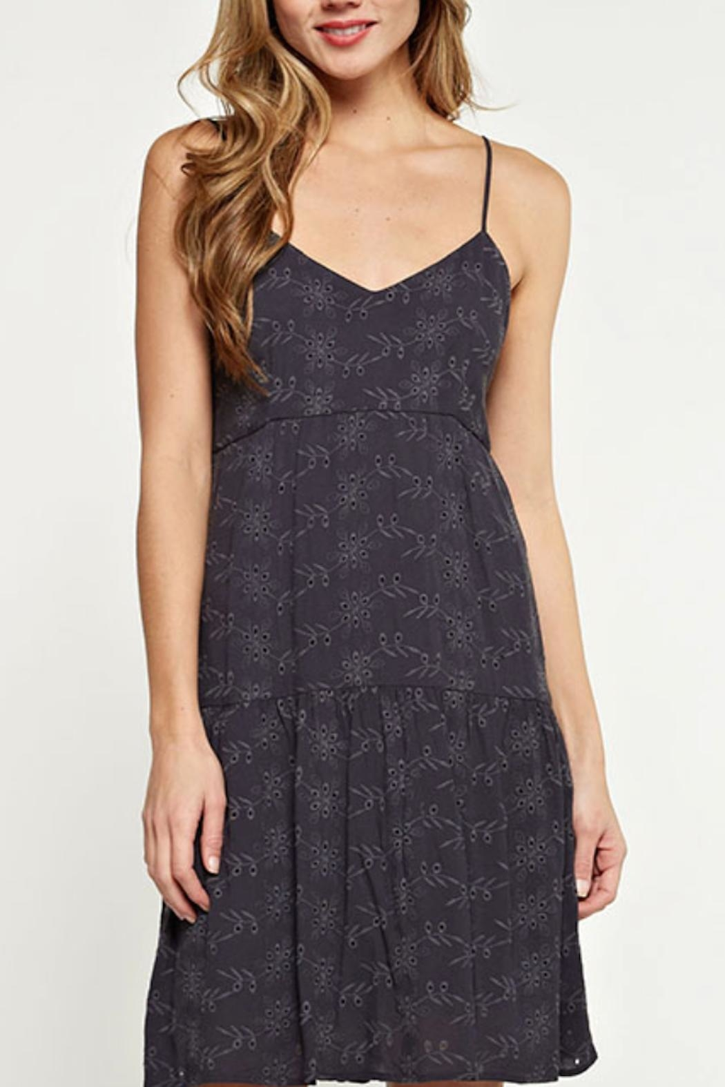 Love Stitch Strappy Eyelet Dress - Front Full Image